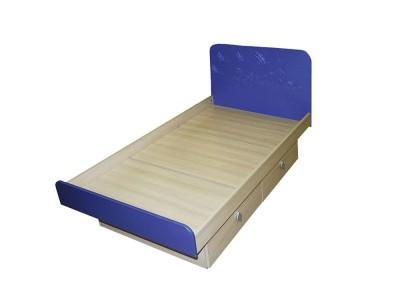 Кровать детская синяя