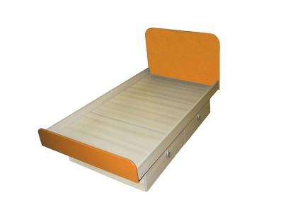 Кровать детская оранжевая