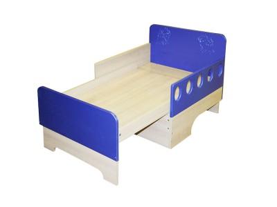 Кровать раздвижная синяя