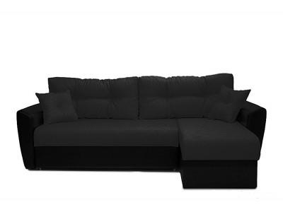 Угловой диван еврокнижка АМСТЕРДАМ черный