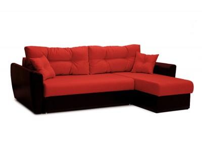 Угловой диван еврокнижка АМСТЕРДАМ красный