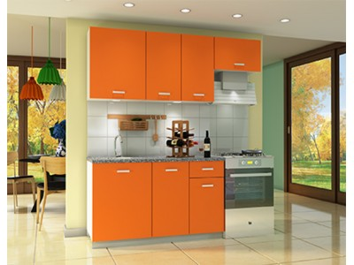 Комплект мебели для кухни Мелисса 2000 оранжевый