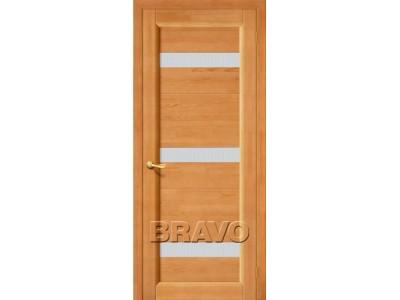 Двери Вега-2 (ПЧО) (Светлый Орех) (Кризет белое)