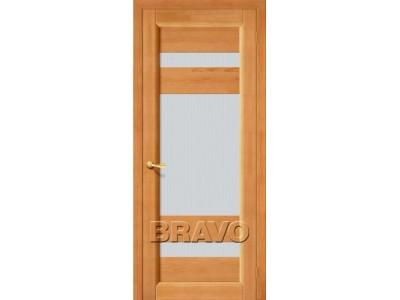 Двери Вега-2 (ПО) (Светлый Орех) (Кризет белое)