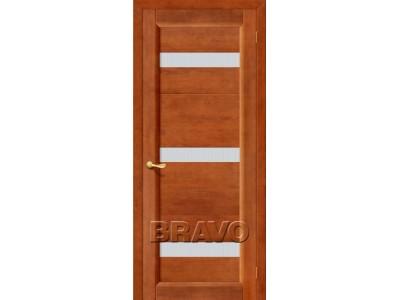 Двери Вега-2 (ПЧО) (Кризет белое) (Темный Орех)