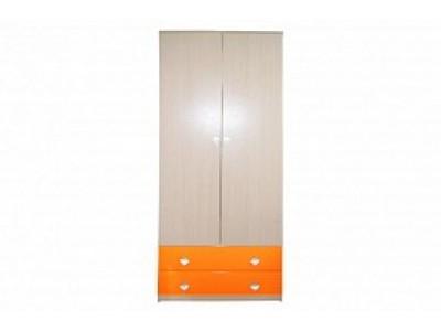 """Детский шкаф """"Жили-были"""" оранжевый"""