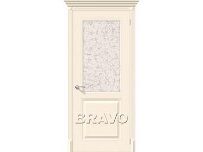 Двери Блюз (Крем) (Художественное стекло)