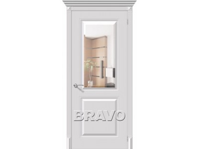 Двери Блюз (Белый) (Белое зеркало)