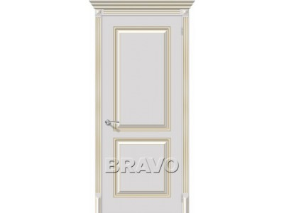 Двери Блюз (Белое золото)