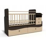 Кровать-трансформер c маятником Bambu Allegro