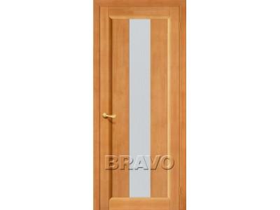 Двери Вега-18 (Светлый Орех) (Кризет белое)
