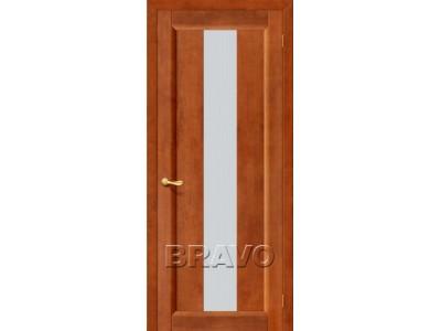 Двери Вега-18 (Темный Орех) (Кризет белое)