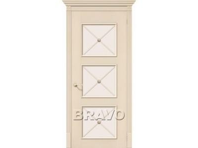 Двери Карл III (Ваниль) (Сатинато белое)