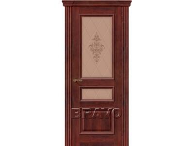 Двери Вена (Красное Дерево) (Художественное стекло)