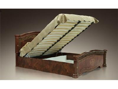 """Кровать """"Карина-3"""" (орех) с подъемным механизмом"""